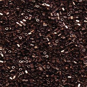 Miyuki Hexagon Beads 11C-0614 2mm Metallic Dark Bronze ca10gr