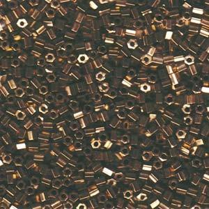 Miyuki Hexagon Beads 8C-0457 3mm metallic Dark Bronze 11gr