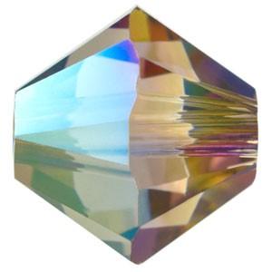 Swarovski Elements Perlen Bicones 6mm Crystal Iridescent Green beschichtet 50 Stück