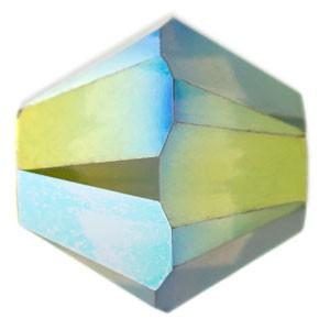 Swarovski Elements Perlen Bicones 4mm Crystal Iridescent Green 2X beschichtet 50 Stück