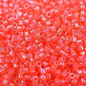 Miyuki Delica Beads Neon 1,6mm DB2051 luminous Poppy Red ca 5gr