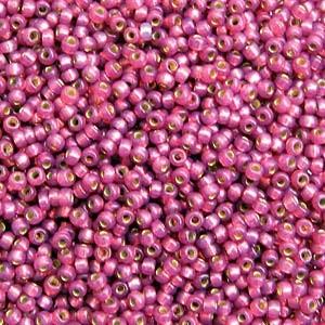 Miyuki Rocailles Beads 2mm 4247 Duracoat Silverlined Fuchsia ca 24gr