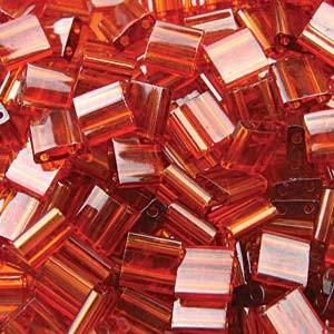 Miyuki Tila Beads 5mm transparent dark Topaz TL0134 ca 7,2gr