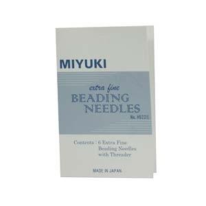 Miyuki Perlennadeln 6er Packung mit Einfädelhilfe