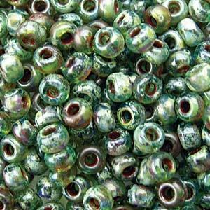 Miyuki Rocailles Picasso Beads 3mm 4506 transparent Olivine ca 22gr