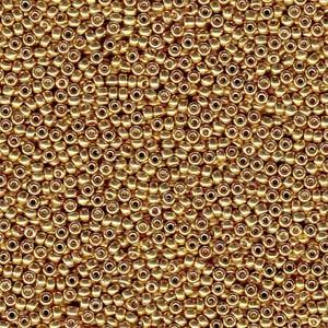 Miyuki Rocailles Beads 4mm 4202 Duracoat galvanized Gold 20gr