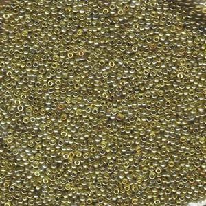 Miyuki Rocailles Beads 1,5mm 1889 transparent luster Gold Olive ca 11gr