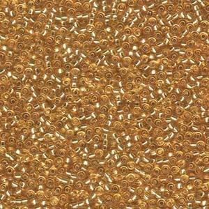 Miyuki Rocailles Beads 2mm 0003 transparent silverlined Gold 12gr