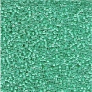Miyuki Rocailles Beads 2mm 0218 insinde colorlined Light Aqua 12gr