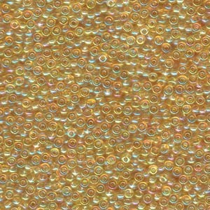 Miyuki Rocailles Beads 2mm 0251 transparent rainbow Light Gold 12gr