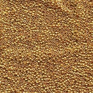 Miyuki Rocailles Beads 2mm 1053 galvanized Gold ca 12gr