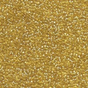 Miyuki Rocailles Beads 1,5mm 0003 transparent silverlined Gold ca 11gr