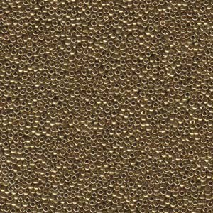 Miyuki Rocailles Beads 1,5mm 0457L metallic Light Bronze ca 11gr