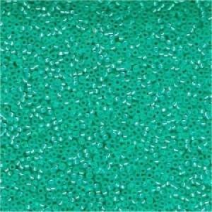 Miyuki Rocailles Beads 1,5mm 0572 transparent silverlined Bright Aqua ca 11gr