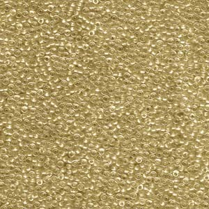 Miyuki Rocailles Beads 1,5mm 1522 Crystal sparkling Gold lined ca 11gr