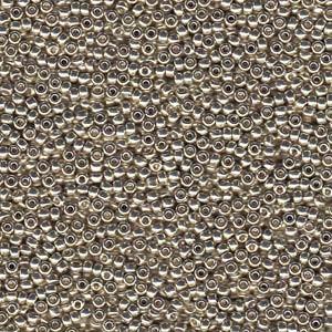 Miyuki Rocailles Beads 2mm 4201 Duracoat galvanized Silver ca 23,5gr