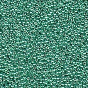Miyuki Rocailles Beads 2mm 4214 Duracoat galvanized Dark Mint Green ca 23,5gr