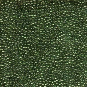 Miyuki Rocailles Beads 1,5mm 0306 gold luster Olive Green ca 11gr