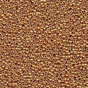Miyuki Rocailles Beads 1,5mm 4203 Duracoat galvanized Yellow Gold ca 11gr