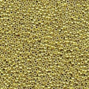 Miyuki Rocailles Beads 1,5mm 4205 Duracoat galvanized Zest ca 11gr