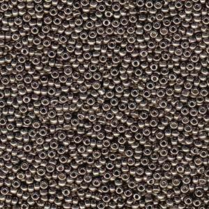 Miyuki Rocailles Beads 1,5mm 4222 Duracoat galvanized Pewter ca 11gr
