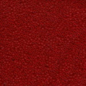 Miyuki Rocailles Beads 2,2mm 0141F oder 9660-314 transparent matt Red ca 10gr