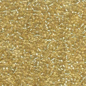 Miyuki Rocailles Beads 2,2mm 0002 oder 9660-114 silverlined Topaz light ca 10gr