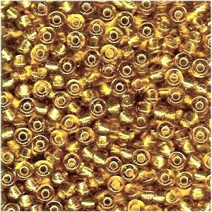 Miyuki Rocailles Beads 4mm 0003 transparent silverlined Gold 20gr