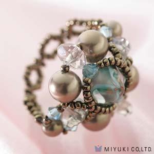 Miyuki Schmuck Bastelset BFK 77 Smoky Sapphire Ring