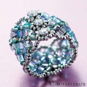 Miyuki Schmuck Bastelset BO 102-1 Manchette Ring Blue