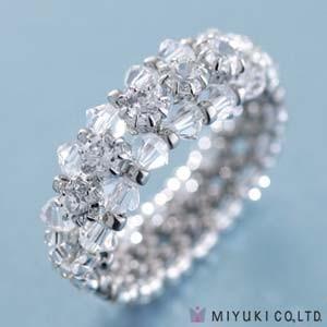Miyuki Schmuck Bastelset B0 95-1 Cubic Zirconia Line Ring Silver