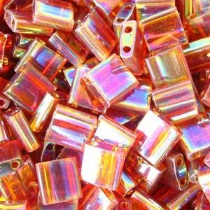 Miyuki Tila Beads 5mm transparent irisierend Topaz TL0257 7,2gr
