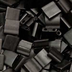 Miyuki Tila Beads 5mm Black Matt TL0401F 7,2gr