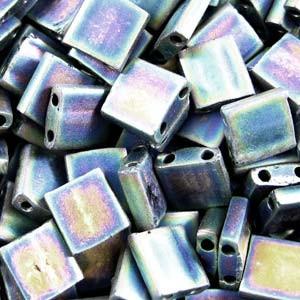 Miyuki Tila Beads 5mm Black AB Matt TL0401FR 7,2gr