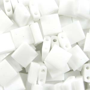 Miyuki Tila Beads 5mm Opaque White TL0402 7,2gr