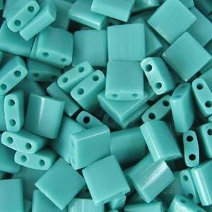Miyuki Tila Beads 5mm opaque Turquoise Green TL0412 7,2gr