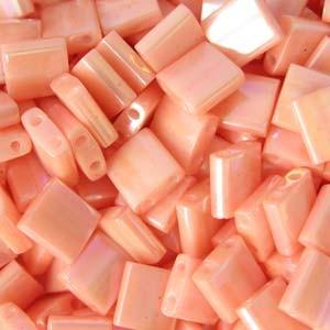 Miyuki Tila Beads 5mm semi matt opaque Salmon TL0596 7,2gr