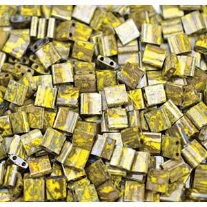 Miyuki Tila Picasso Beads 5mm Peridot Moss TL4519 ca 7,2gr