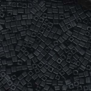 Miyuki Würfel Beads, Cube, Square Beads 3mm 0401F opaque matte Black 20gr