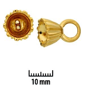 Perlenkappen 23 Karat Goldauflage 17x12mm 2 Stück