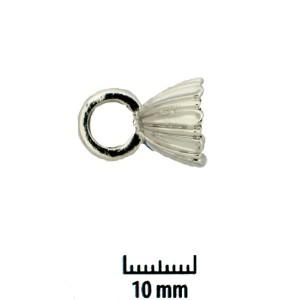 Perlenkappen echt rhodiniert 17x12mm 2 Stück