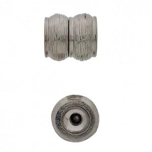 Magnetverschluss Auflage aus echtem Rhodium 13x14mm