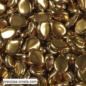 Preciosa PIP Beads 5x7mm 23980-26443 Jet Amber ca 60 Stück