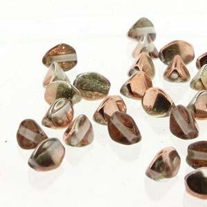 Pinch Beads 5x3mm Crystal Capri Gold 50 Stück