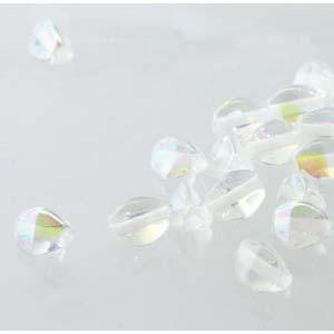 Pinch Beads 5x3mm Crystal AB beschichtet 50 Stück