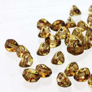 Pinch Beads 5x3mm Crystal Picasso 50 Stück