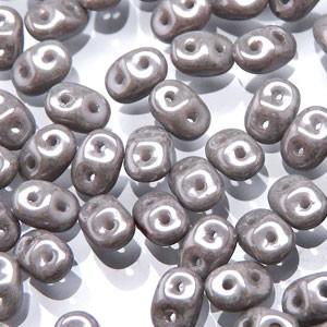 SuperDuo Perlen 2,5x5mm luster Jet Chalk DU0503000-14449 ca 24gr