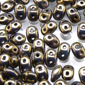 SuperDuo Perlen 2,5x5mm Turquoise Senegal Brown Purple DU0563030-15695 ca 24gr