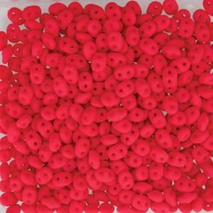SuperDuo Perlen 2,5x5mm Neon Cherry DU0525144-104 ca 24gr