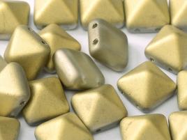 Pyramid Beads 12mm Crystal Amber matt 5 Stück